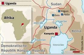Karte Uganda